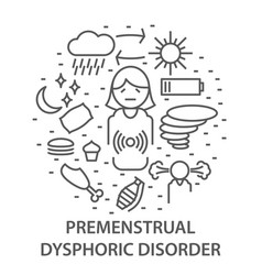 banners for premenstrual syndrome vector image