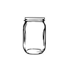Blank mason jar logo design inspiration vector