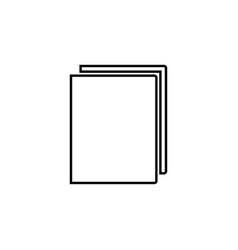 book black color icon vector image