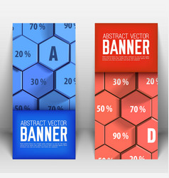 business abstract geometric vertical banners vector image