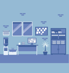 Business company office interior vector