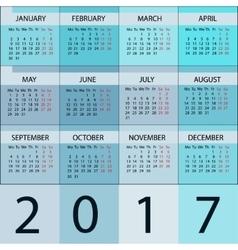 Calendar Planner 2017 Year vector image