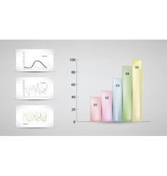 Charts and graphs vector
