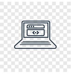 coding concept linear icon isolated on vector image