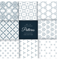 collection of vintage style pattern design vector image