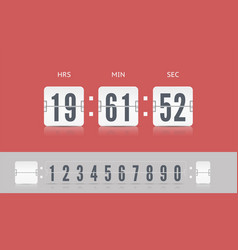 Coming soon web page design with flip time counter vector