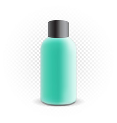 cosmetic bottle mockup template vector image