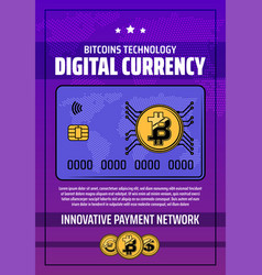 cryptocurrency digital money payment vector image