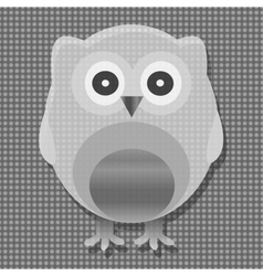 cute metal owl vector image