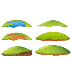 Different shapes of island vector