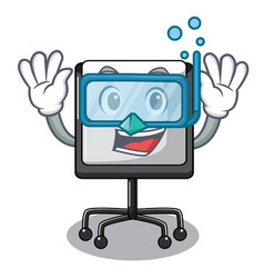 Diving presentation board character in table blank vector