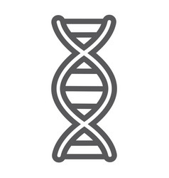 dna line icon chromosome and biology genetic vector image