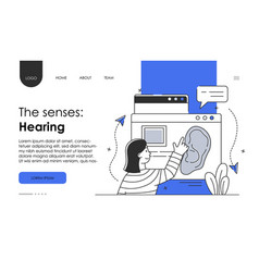 Doctore make ear examination line art concept vector