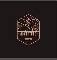 Emblem desert landscape adventure explore logo vector