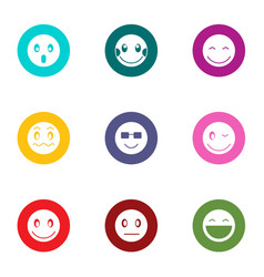 Feeling icons set flat style vector