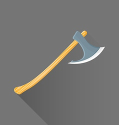 flat style medieval battle ax icon vector image