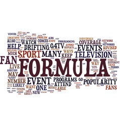 formula d fans show your support for the sport vector image