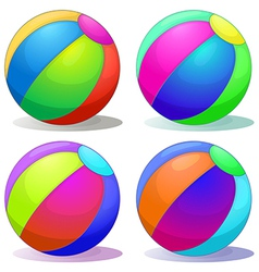 Four colorful inflatable balls vector image