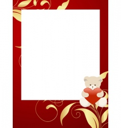 frame with bear vector image