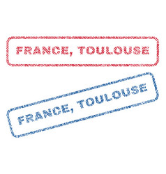 France toulouse textile stamps vector