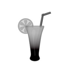 Fruit cocktail icon black monochrome style vector image