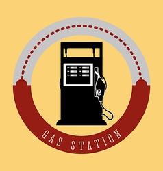 Gas Station design vector image