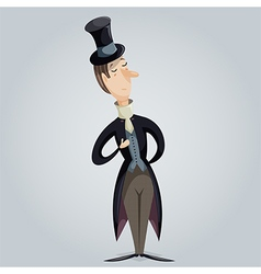 Gentleman funny cartoon character vector