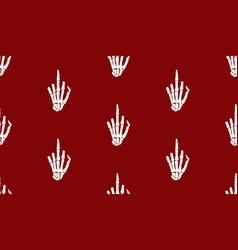 gesture sign rentgen hand bones seamless vector image