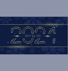Gold numbers 2021 happy new year vector