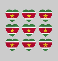 Heart with the flag of suriname i love suriname vector