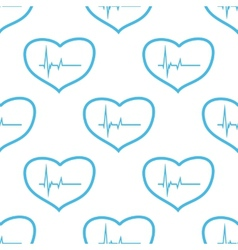 Heartbeat seamless pattern vector image