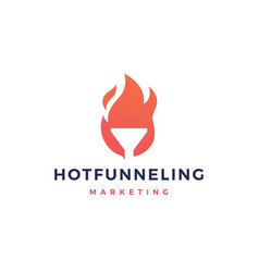 hot funneling logo icon vector image