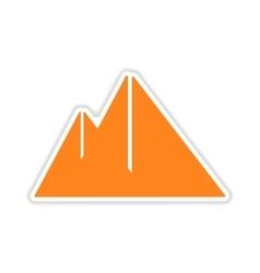 icon sticker realistic design on paper pyramids vector image