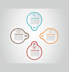 infographic 8 step process list with center title vector image