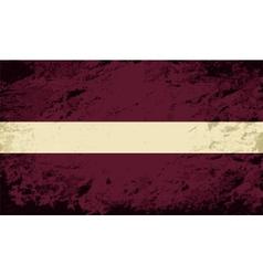 Latvian flag Grunge background vector