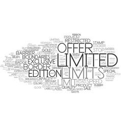 Limits word cloud concept vector