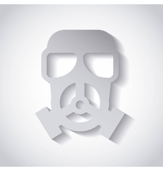 Mask protection safety icon vector