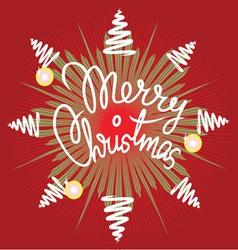 Merry christmas decor vector image