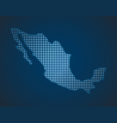 mexico dot map vector image