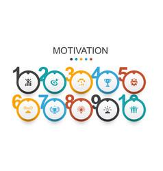 Motivation infographic design template goal vector