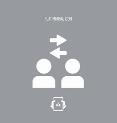 network group - flat minimal icon vector image