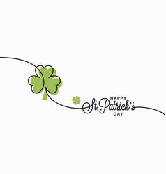 patrick day card saint patrick s day banner vector image
