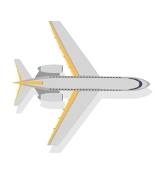 Plane Icon on White Background Transport vector image