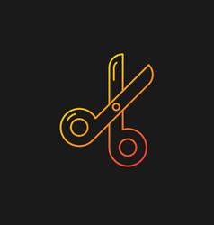 Scissors gradient icon for dark theme vector