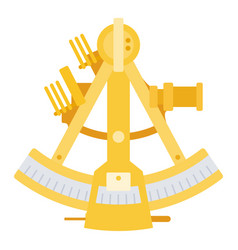 sea sextant icon flat isolated vector image
