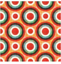seamless circles polka dots pattern vector image