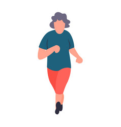 senior sportswoman running old woman jogging vector image