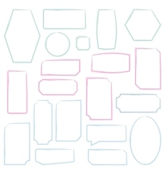 Set frames vector image