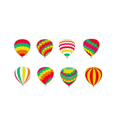 set multicolored balloons on a white background vector image