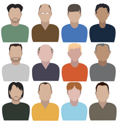 set of abstract men vector image
